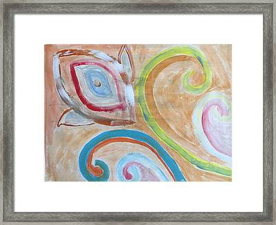 Framed Print featuring the painting Thought by Sonali Gangane