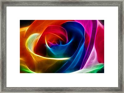 Framed Print featuring the digital art Thoughtful by Karen Showell