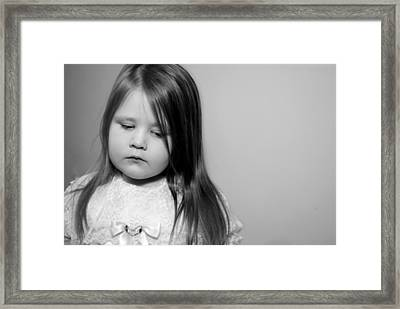 Thoughtful Little Girl Framed Print by Stephanie Grooms