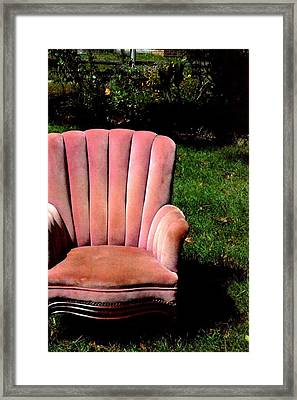 Thoughtful Spot Framed Print by Carlee Ojeda