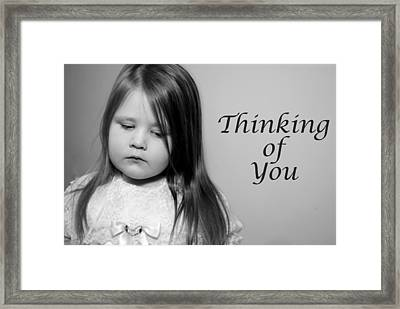 Thoughtful  Framed Print by Stephanie Grooms