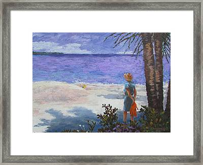 Framed Print featuring the pyrography Thoughtful by Tony Caviston