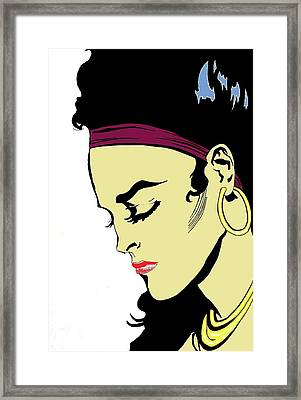 Thoughtful Woman 2 Framed Print