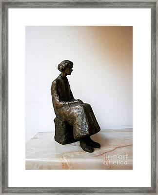 Thoughtful Woman Framed Print by Nikola Litchkov