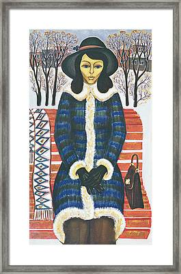 Thoughts, 1977 Oil On Canvas Framed Print
