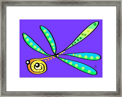 Thoughts And Colors Series Dragonfly Framed Print by Veronica Minozzi