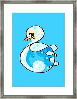 Thoughts And Colors Series Duckling Framed Print by Veronica Minozzi