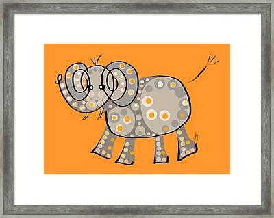Thoughts And Colors Series Elephant Framed Print