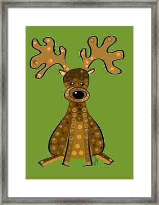 Thoughts And Colors Series Reindeer Framed Print