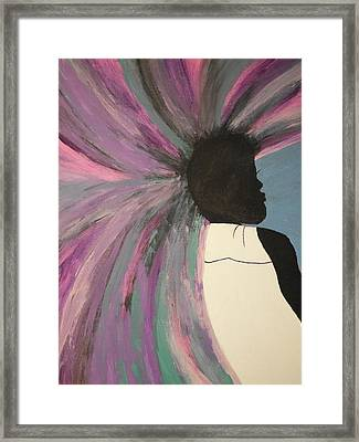 Thoughts Explode Framed Print by Erica  Darknell