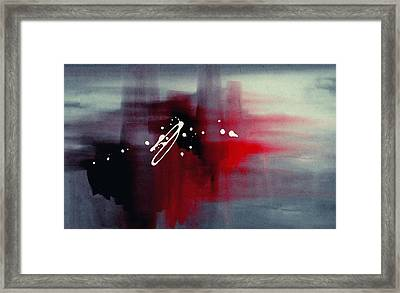 Thoughts - Contemporary Abstract Art Framed Print by Modern Art Prints
