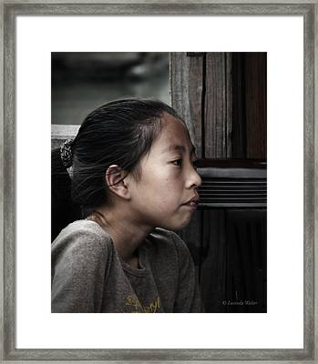 Framed Print featuring the photograph Thoughts by Lucinda Walter