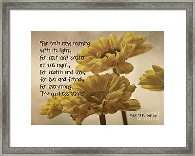 Thoughts Of Gratitude Framed Print