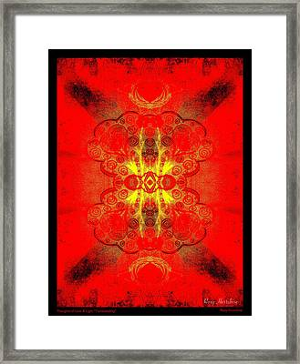 Thoughts Of Love And Light Transcending Black Border Framed Print by Roxy Hurtubise