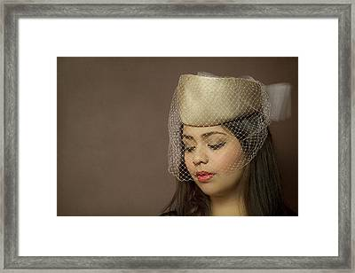 Thoughts Of Mystery Framed Print by Evelina Kremsdorf