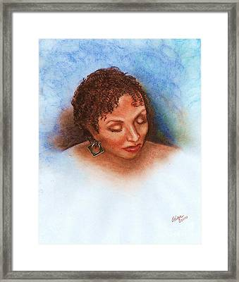 Framed Print featuring the mixed media Thoughts Of You by Alga Washington