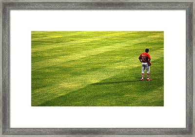 Thoughts Out In Left Field Framed Print by Mary Lee Dereske