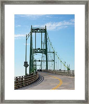 Thousand Islands International Bridge Framed Print