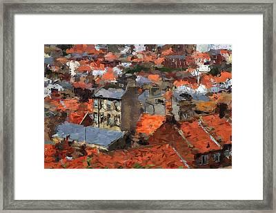 Thousand Roofs Framed Print by Steve K