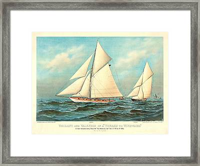 Thrash To Windward 1893 Framed Print by Padre Art