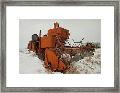 Thrashing The Snow Framed Print by Jeff Swan