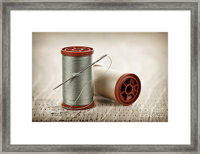 Thread And Needle Framed Print