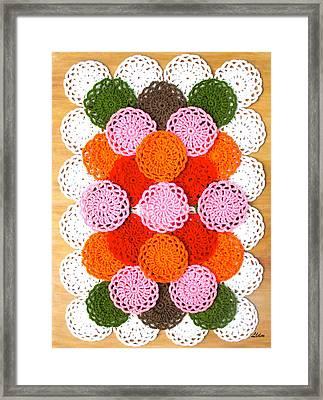 Thread On Canvas Framed Print
