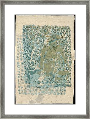 Threaded Woman Framed Print