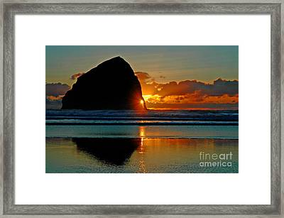 Threading The Needle Framed Print