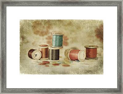 Threads And Buttons Framed Print
