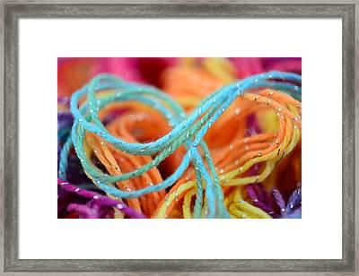 Threads Close Up Framed Print