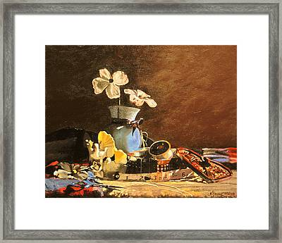 Threads Framed Print by Kenneth Young
