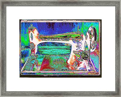 Threads Of Color Framed Print