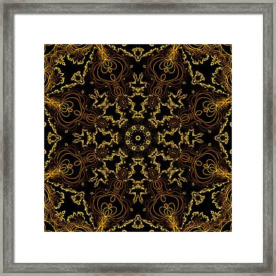 Framed Print featuring the digital art Threads Of Gold And Plaits Of Silver by Owlspook