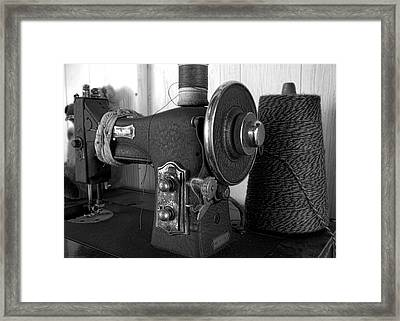 Threads Of The Past Framed Print by Chrystyne Novack