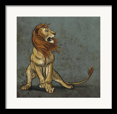 Cat Digital Art Framed Prints