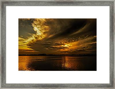 Framed Print featuring the photograph Threatening by Linda Karlin