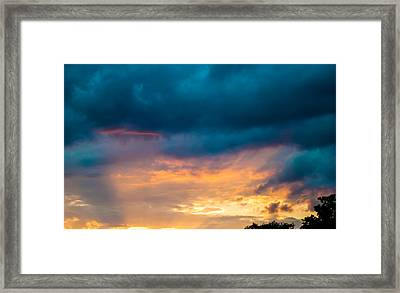 Threatening Skies At Sunset Framed Print by Optical Playground By MP Ray