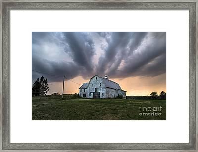 Threatening Storm Framed Print by Benjamin Williamson