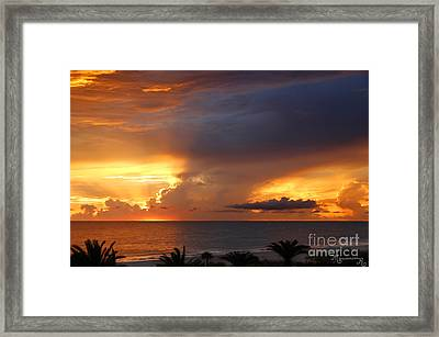 Framed Print featuring the photograph Threatening Sunset by Mariarosa Rockefeller