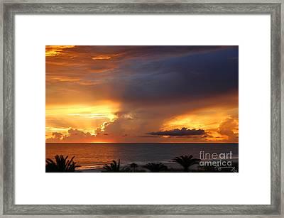 Threatening Sunset Framed Print by Mariarosa Rockefeller