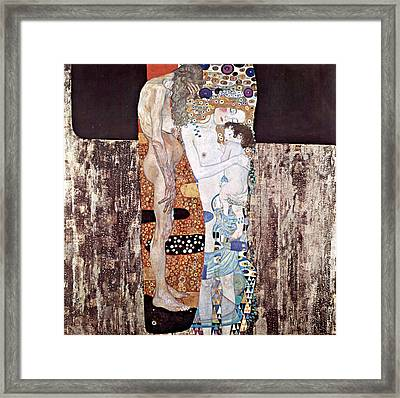 Three Ages Of Woman Framed Print by Gustive Klimt