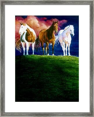 Three Amigos Framed Print by Hanne Lore Koehler