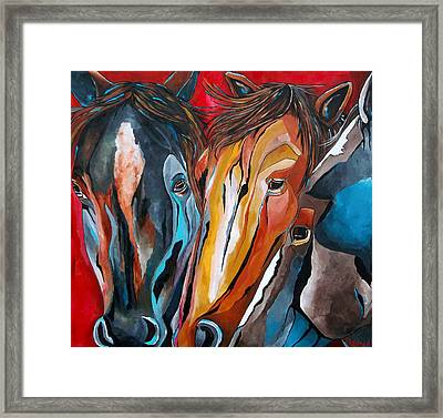 Three Amigos Framed Print by Patti Schermerhorn