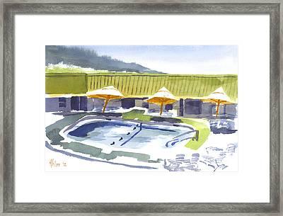 Three Amigos Poolside Framed Print by Kip DeVore