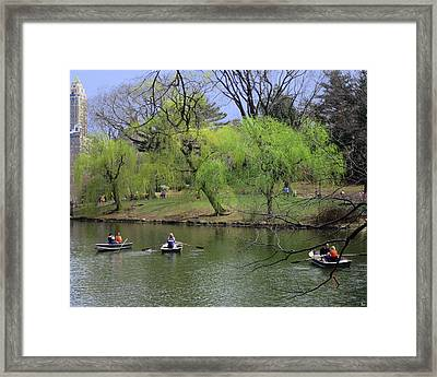 Three And Three Framed Print by Muriel Levison Goodwin