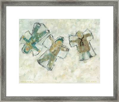 Three Angels Framed Print by David Dossett
