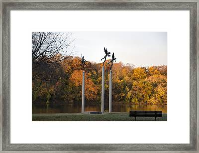 Three Angels In Autumn Framed Print