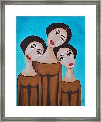 Three Angels Framed Print by Sonali Kukreja