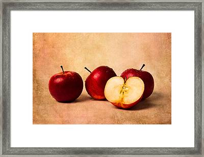 Three Apples And A Half Framed Print